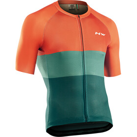 Northwave Blade Air Short Sleeve Jersey Men, green/siena orange